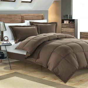 6 PCS Double | 4 PCS Single Comforter Set - Brown White