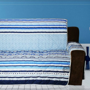 SOFA COVER - BLUE LINES