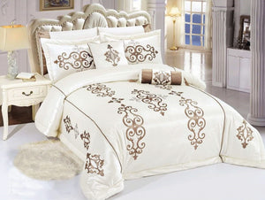 Velvet Bridal Comforter Set 8 PCS