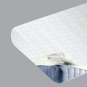 JACQUARD FITTED SHEET - WHITE- KING SIZE