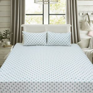 Green Stars Percale Bed Sheet