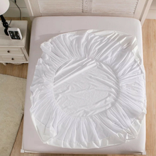 Water Proof Mattress Protector Terry Cotton White