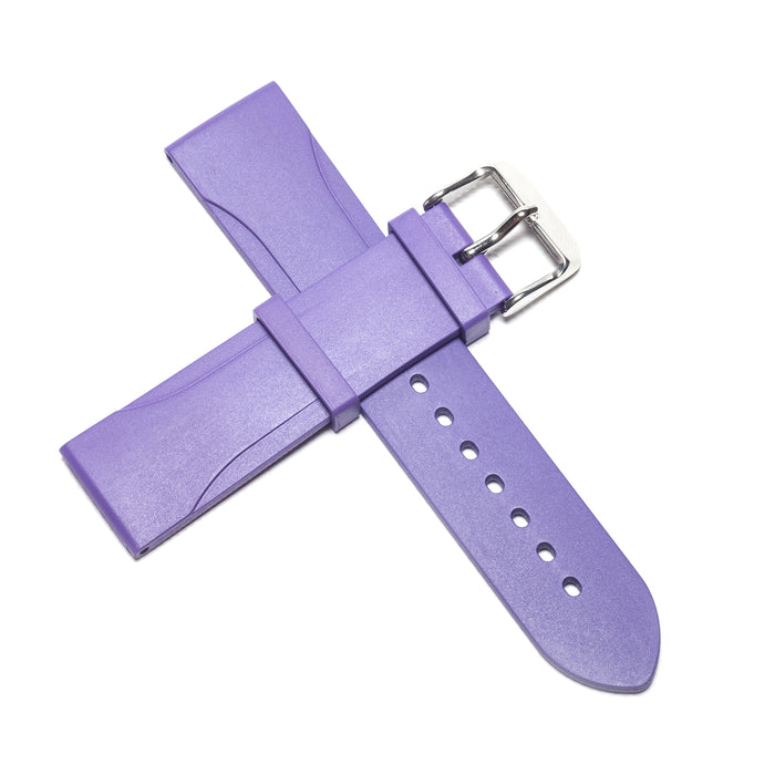 22mm Natural Rubber Strap, Purple - NTH Watches