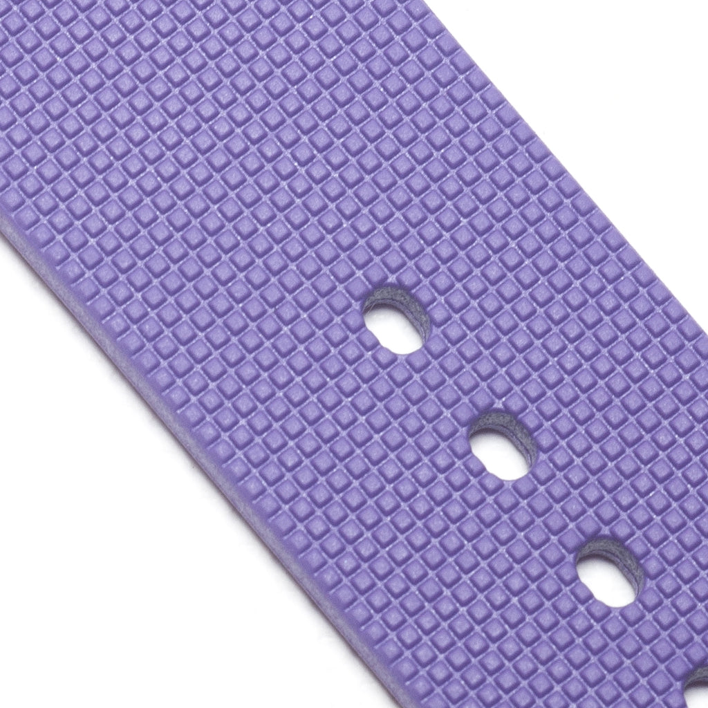22mm Natural Rubber Strap, Purple - Janis Trading