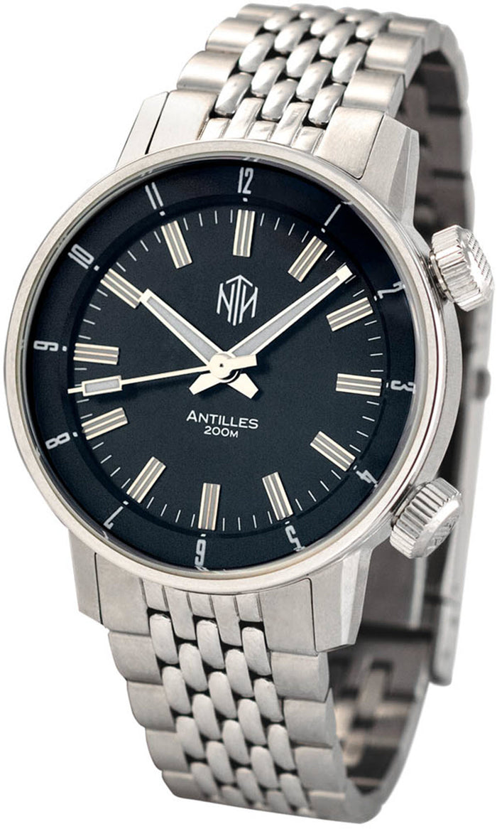 Antilles - Black, No Date - NTH Watches