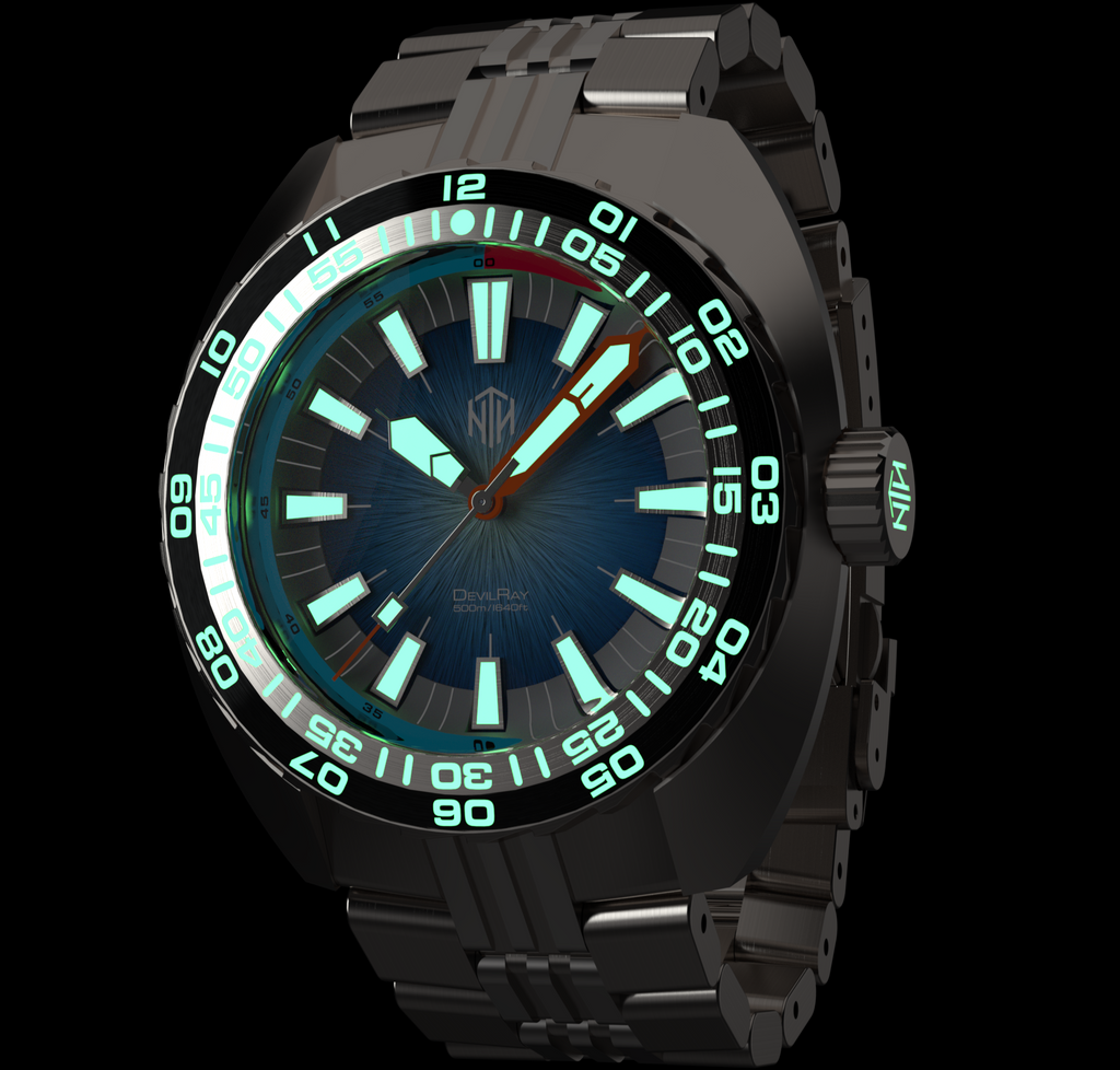 DevilRay, Blue - NTH Watches