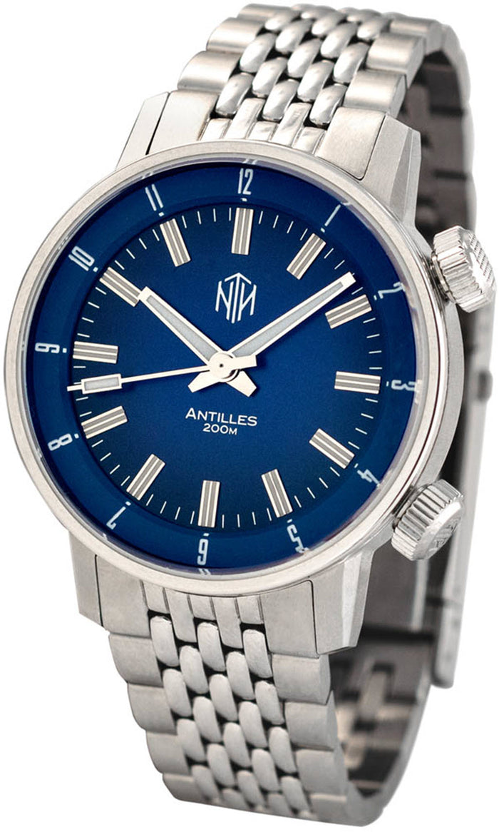 Antilles - Blue, No Date - NTH Watches