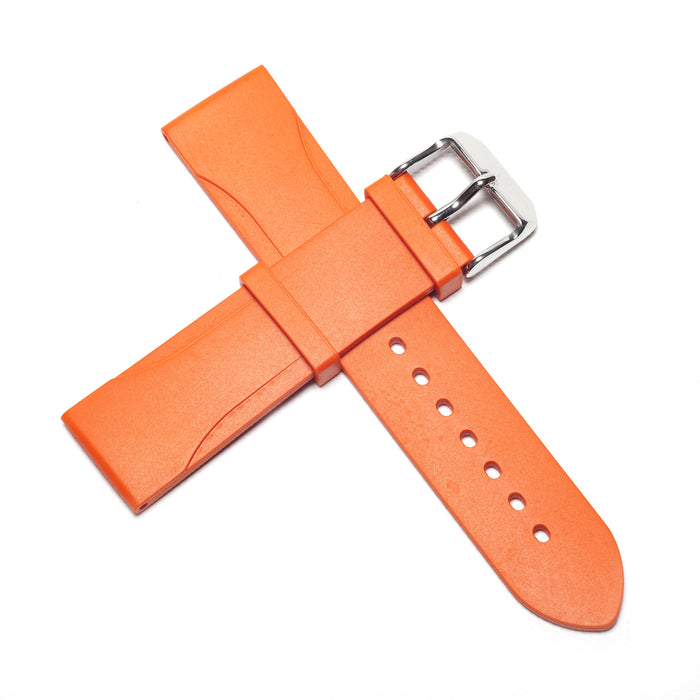 22mm Natural Rubber Strap, Orange - NTH Watches
