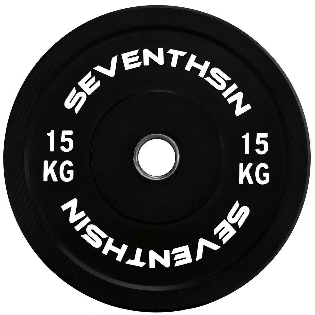 15kg Virgin Bumper Plate - Single - Seventh Sin Fitness