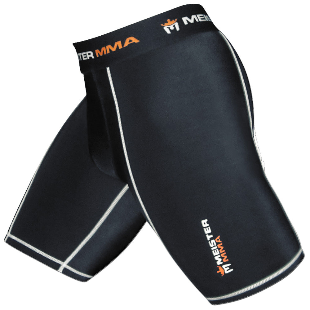 Meister Compression Rush Shorts w/ Cup Pocket - Black - Seventh Sin Fitness
