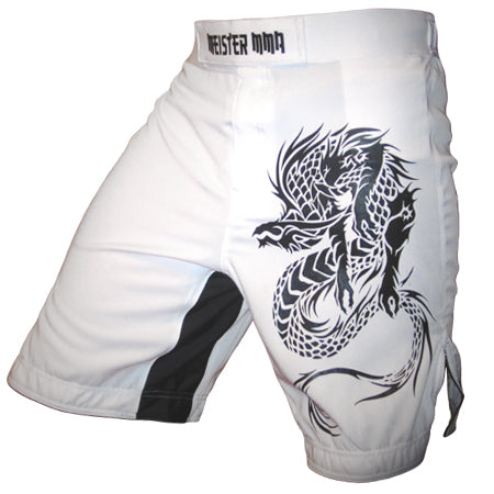 Meister Dragon Board Shorts - White - Seventh Sin Fitness