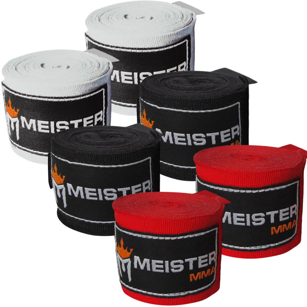 "Meister Adult 180"" Hand Wraps for MMA & Boxing - 3 Pairs Pack - Seventh Sin Fitness"