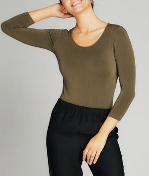 C'est Moi 3/4 Sleeve Bamboo Body Suite