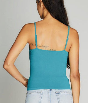 Bamboo Tank With Lace Detail
