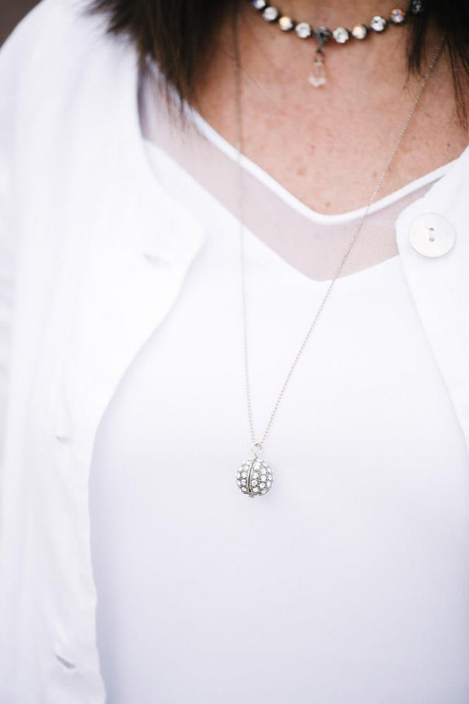 Mariana Disco Ball Crystal Necklace