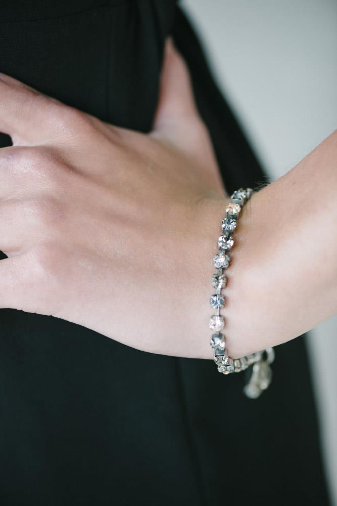 The Diana Smoky Crystal Bracelet
