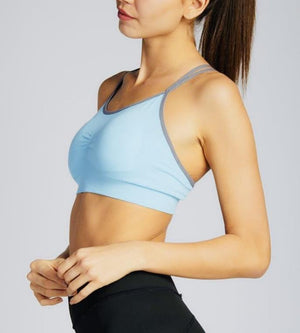 C'est Moi Aloe Yarn Two Tone Sports Bra