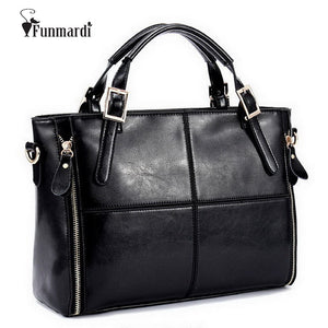 Fashion Patchwork Designer Cattle Split/Mixed Leather Handbag High Quality Ladies Shoulder Bags