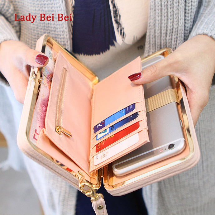 Purse Wallet Female Famous Brand Card Holders Cellphone Pocket Bag Clutch