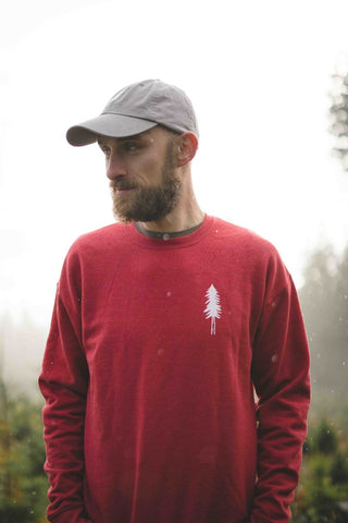 Traveler Crewneck Sweatshirt (Red or Gray)