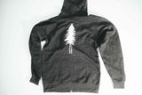 Tree Zip Up Hooded Sweatshirt