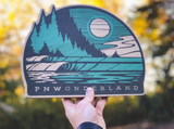 "Erik Abel x Pnwonderland 15"" Real Wood Wall Art"