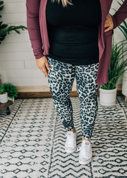 Black Animal Print Leggings