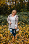 Amber - Camo Cardigan with Hoodie