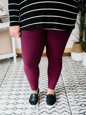 Everyday Buttah Leggings- Wine