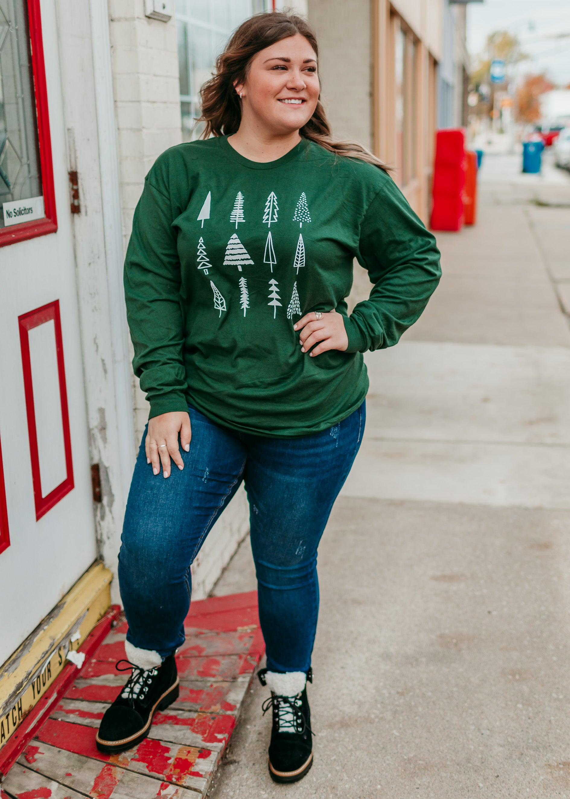 Tree Obsessed Graphic Long Sleeve Tee