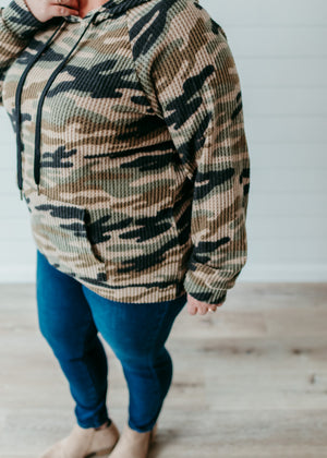 Darby - Camouflage Brushed Waffle Hoodie