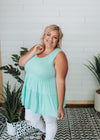 Camila - Sleeveless Tiered Tunic Mint