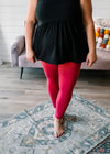 Spring Basics Leggings - Coral