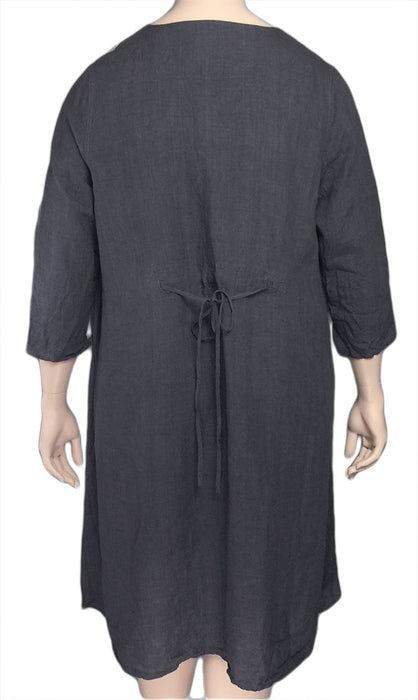 Cheyenne Long Linen Tunic - BACK VIEW