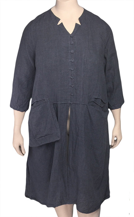 Cheyenne Plus Size Long Linen Tunic