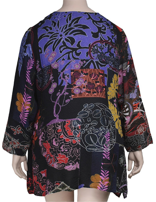 Citron Silk Print Tunic
