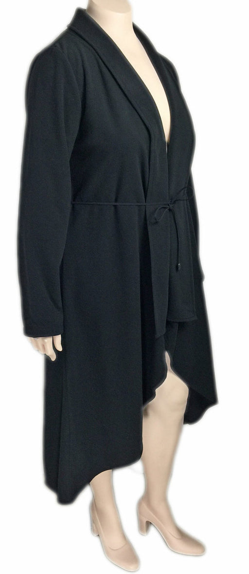 Dorin Frankfurt Black Fleece High Low Coat