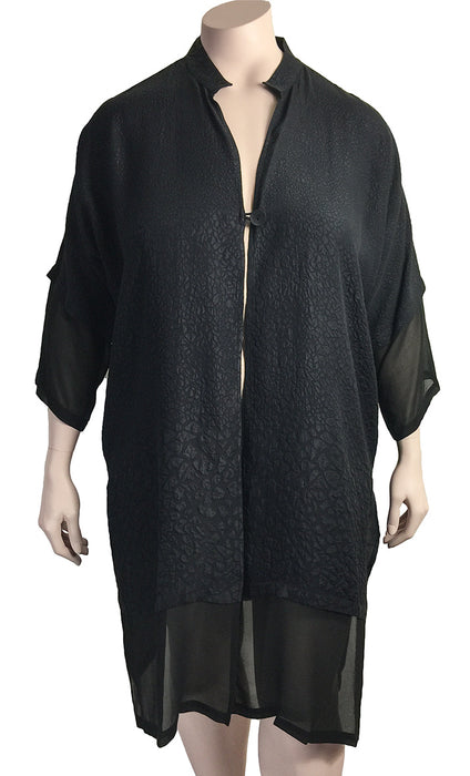 Dressori Black Silk Duster Jacket