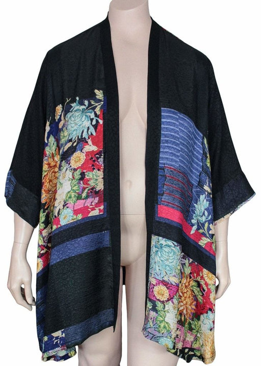 Dressori Black Print Duster Jacket