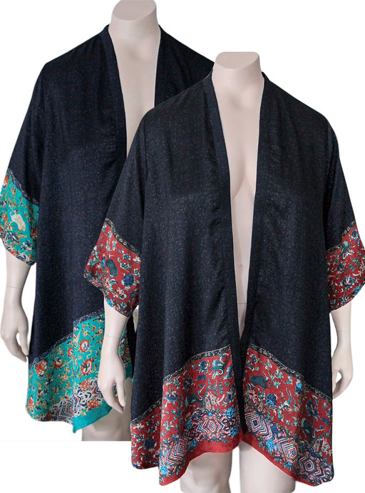Dressori Border Print Duster Jacket