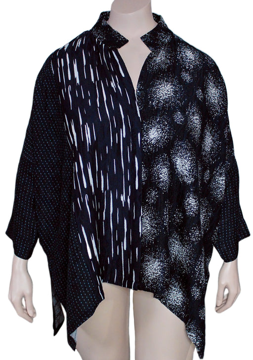 Dressori Paneled Cape Shirt