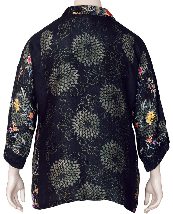 Dressori Plus Size Kimono Sleeve Blouse - BACK VIEW