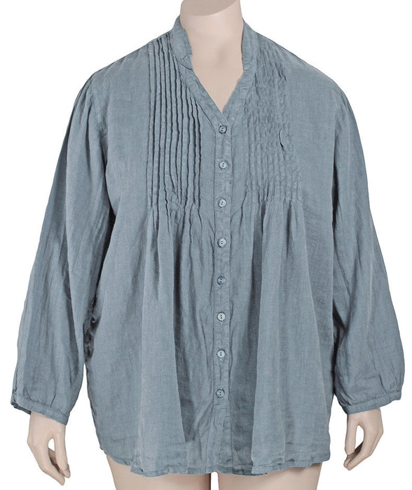 Grizas Linen Pintuck Tunic