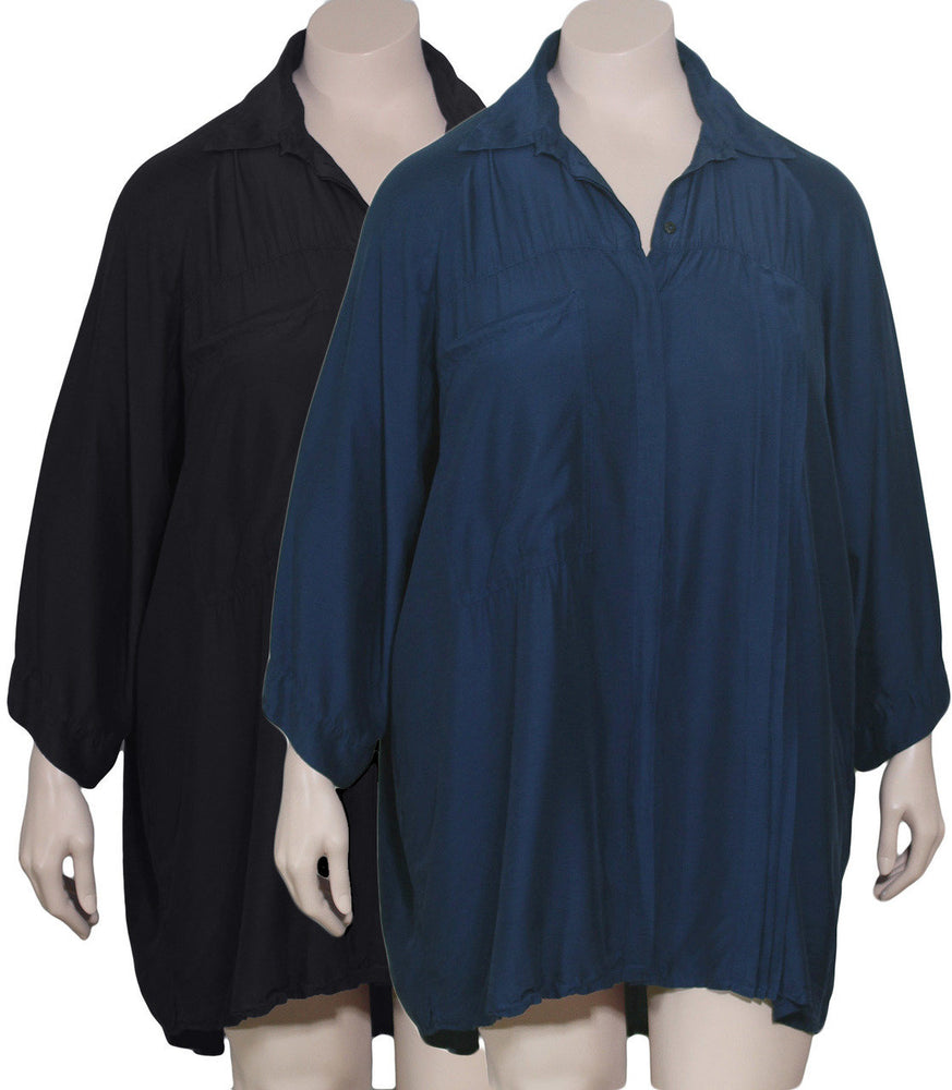 Grizas Plus Size Silk Bamboo Blouse