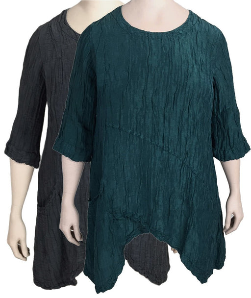 Grizas Silk Linen Asymmetric Tunic