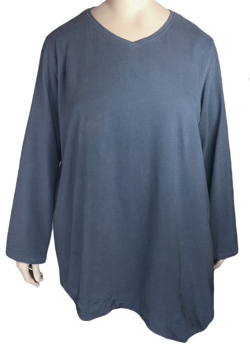 Kleen Brushed Cotton V-Neck Top