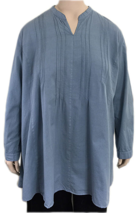KLEEN Cotton Pintuck Tunic Top