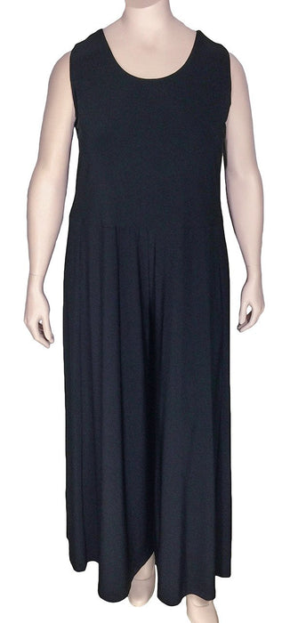 SUN KIM Comfy USA Plus Size Black Jumpsuit
