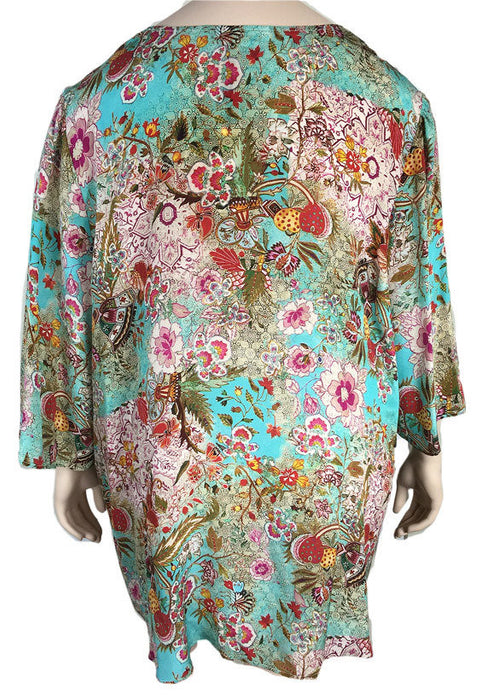 TIANELLO Silk Print Tunic