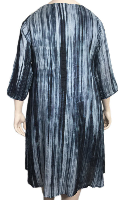 Bianco Levrin Silk Tie Dye Dress